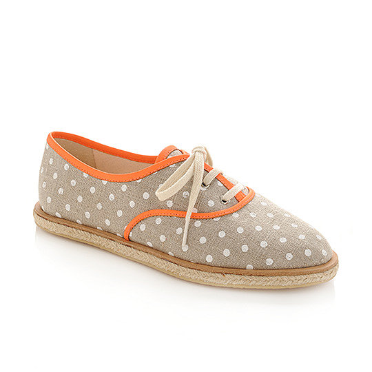 Diminutive dots give this Loeffler Randall Odile espadrille ($195) a whimsical flair.