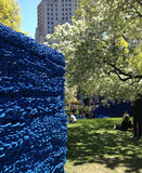 A glimpse of Orly Genger's installation in sunny Madison Square Park. Photo courtesy of Melissa Liebling-Goldberg