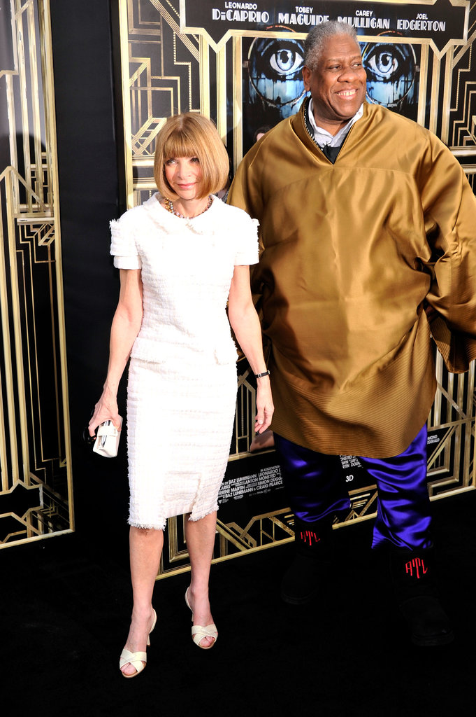 Anna Wintour, wearing Spring 2013 Chanel Couture, and André Leon Talley at The Great Gatsby's premiere in New York.
