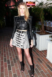 Rosie Huntington-Whiteley wore Balmain at the Balmain dinner in Los Angeles.
