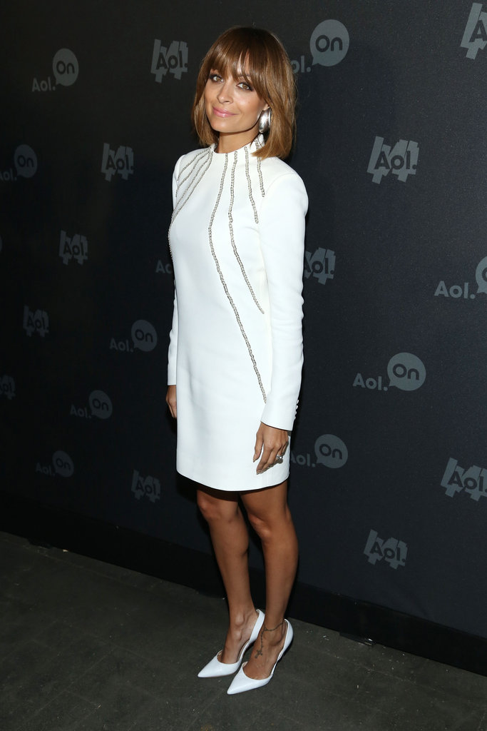 Nicole Richie showed off a sharp little white dress — and coordinating white pumps — for an event in NYC.