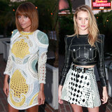 Nicole Richie & Rosie Huntington-Whiteley In Balmain Dinner