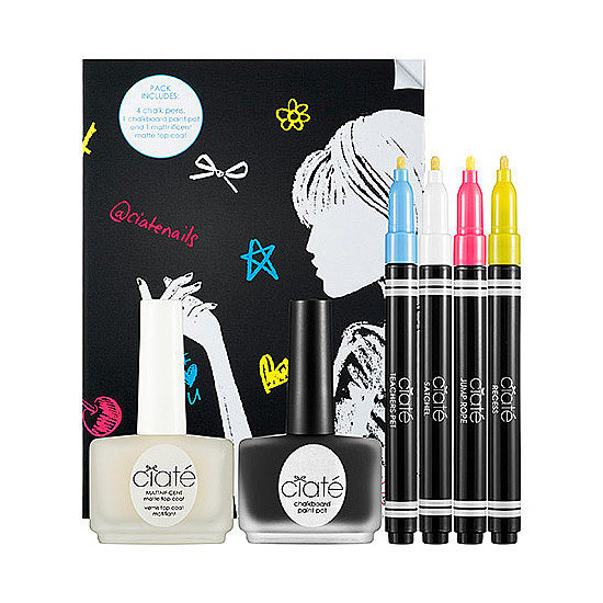 Who didn't love doodling in their high school notebooks? Now you can relive those artistic moments on your nails with the Ciaté Chalkboard Manicure Kit ($25). It comes with a black matte polish to use as a base, four colored markers for drawing, and a matte top coat to seal in your designs.