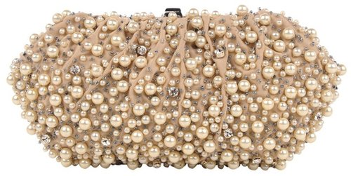 Santi Pearl and Beaded Clutch