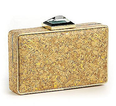 The gold-flake accents and large stone closure on this La Sera by Franchi box clutch ($75) give it a totally one-of-a-kind feel.