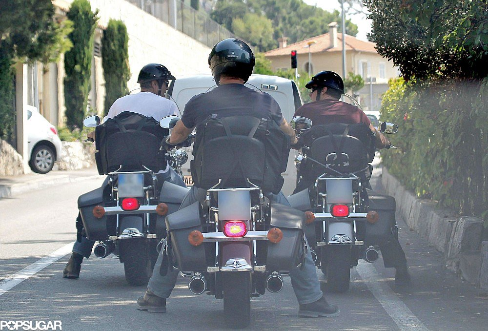 George Clooney got in male-bonding time with Bono and Rande Gerber in August 2011 while riding around Lake Como.