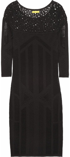 Catherine Malandrino Pointelle-knit dress