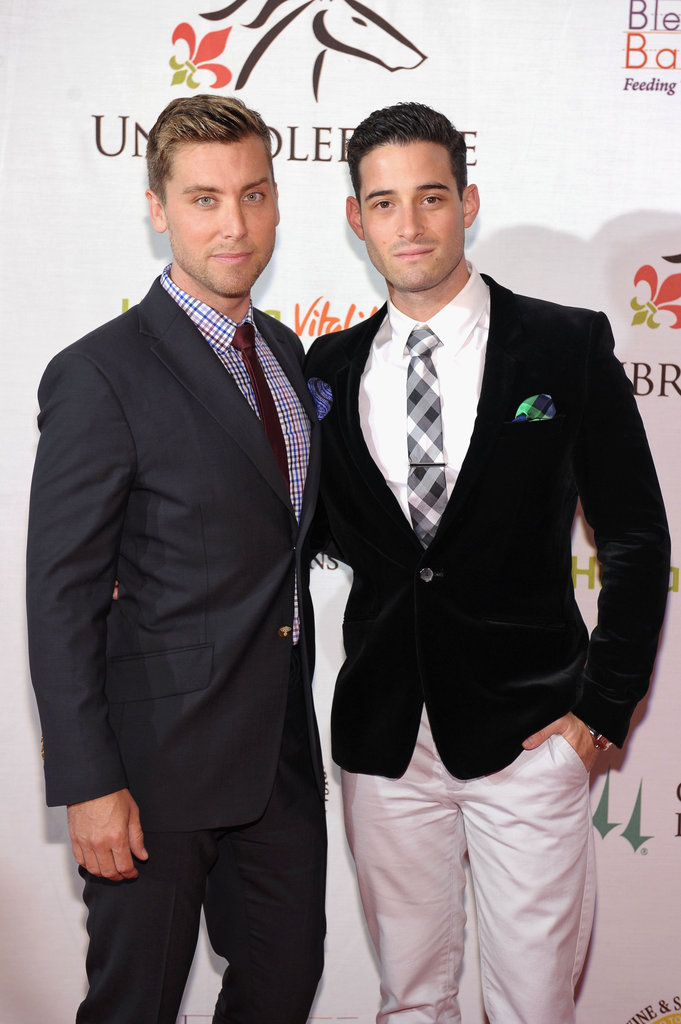 Lance Bass and Michael Turchin attended the Unbridled Eve Gala on Friday.