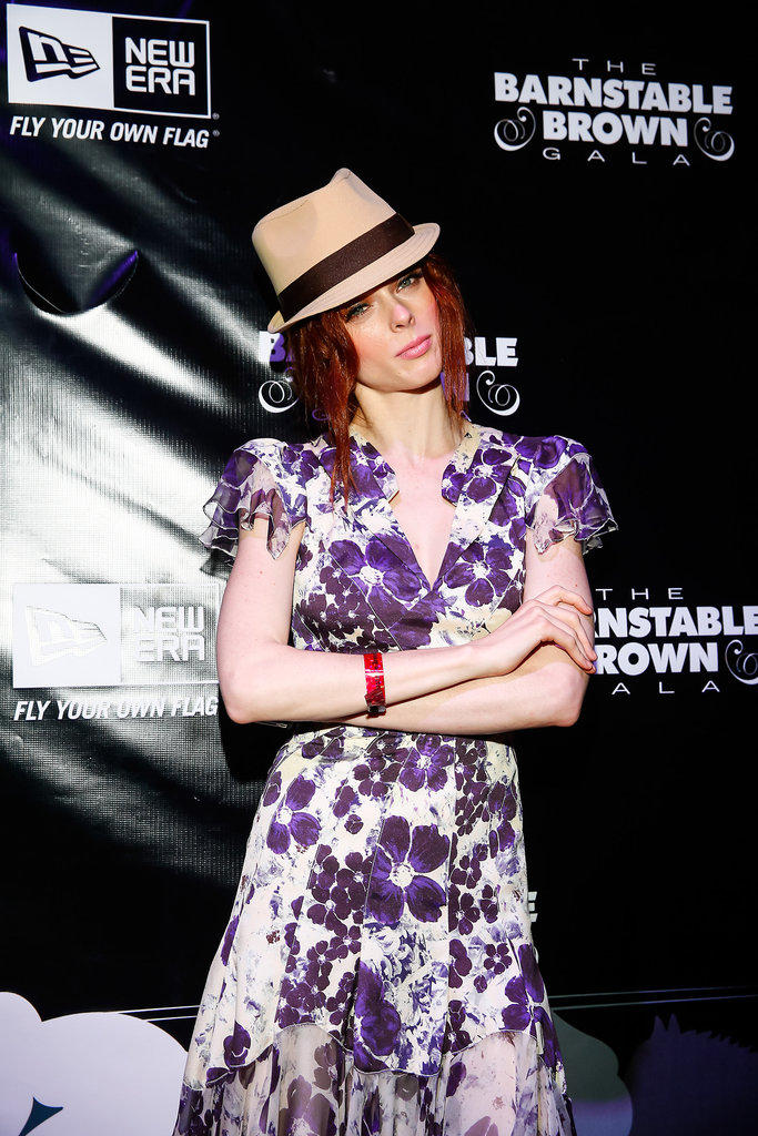 Model Coco Rocha went floral at the Barnstable Brown Gala on Friday.