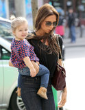 Haper Beckham went shopping with her mom Victoria Beckham.