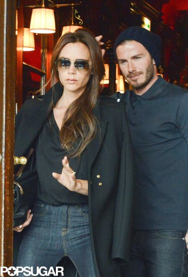 The Beckhams Cap Off a Whirlwind Weekend With an Eiffel Tower Dinner