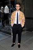 Brad Goreski was on hand in NYC for Dolce & Gabbana.