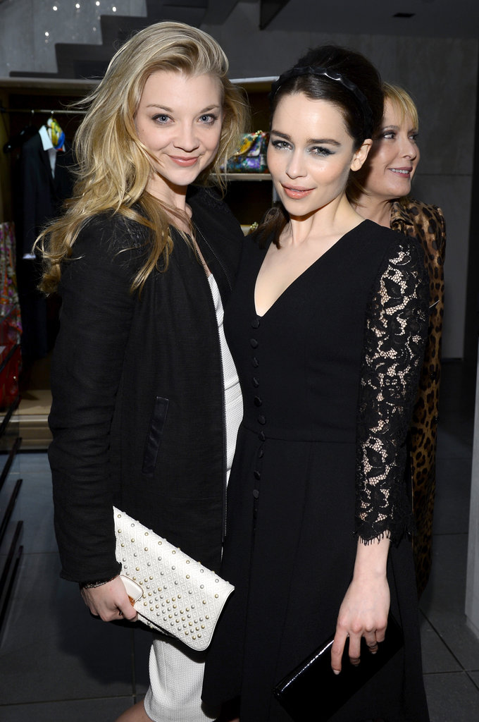 Emilia Clarke and Natalie Dormer wore black to the Dolce & Gabbana store opening in NYC.