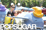 Jennifer Garner took Violet and Seraphina Affleck to Disneyland on Saturday.