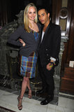Lauren Santo Domingo with Olivier Rousteing at Moda Operandi's Punk collection launch.