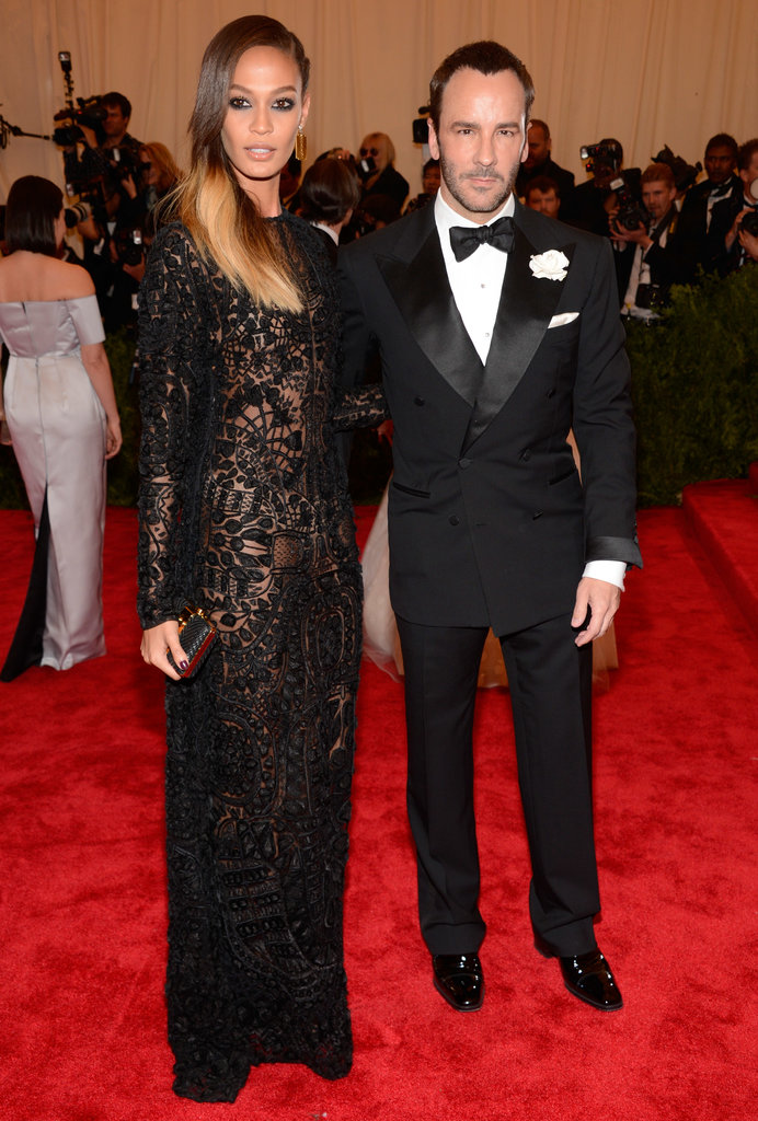 Joan Smalls and Tom Ford at the Met Gala.