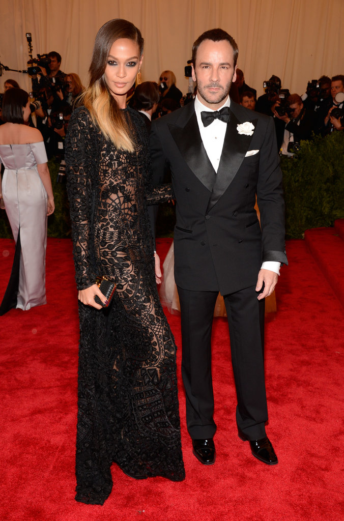 Joan Smalls and Tom Ford were the epitome of a sexy punk-rock pair on the red carpet.