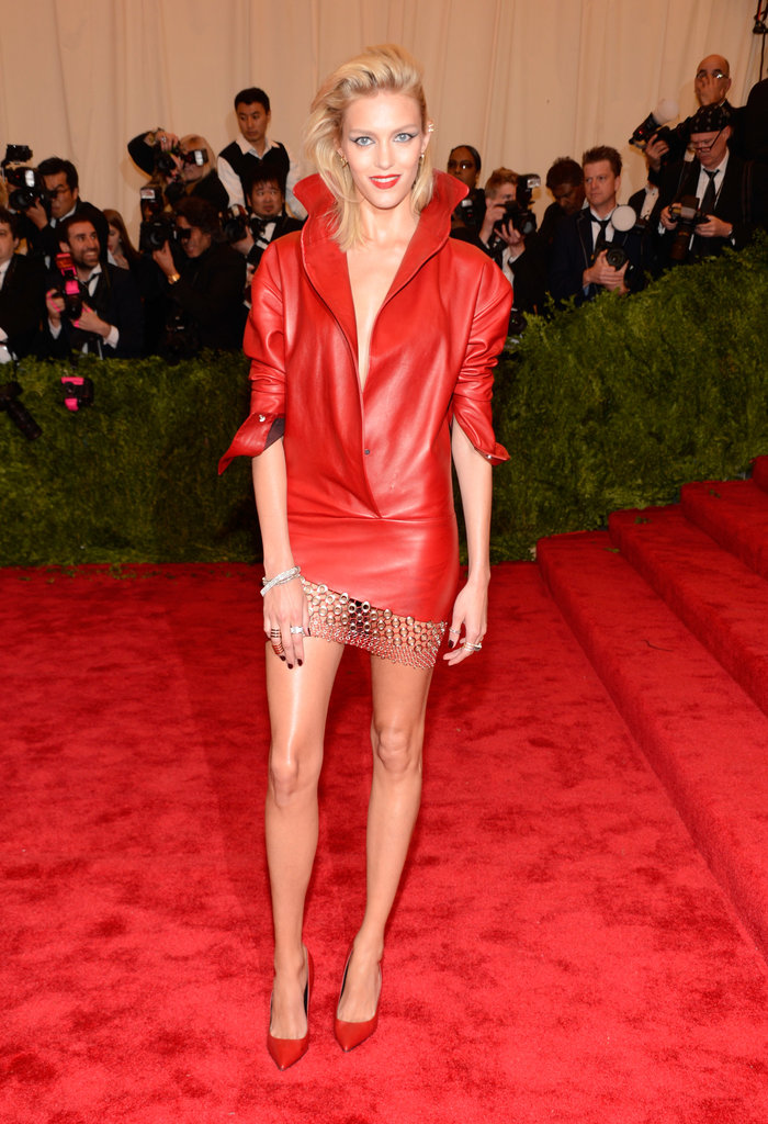 Anja Rubik at the Met Gala.