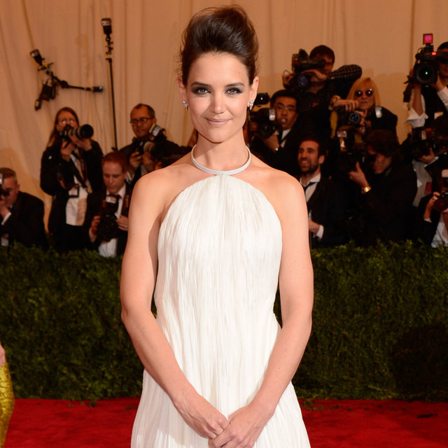 Pictures of Katie Holmes in Calvin Klein, 2013 Met Gala Ball
