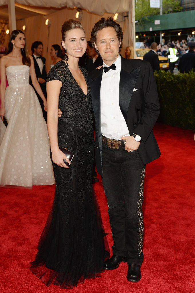Lauren Bush Lauren and David Lauren looked positively punk in their Ralph Lauren looks.