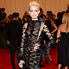 Anne Hathaway With Bleached Blonde Hair at 2013 Met Gala