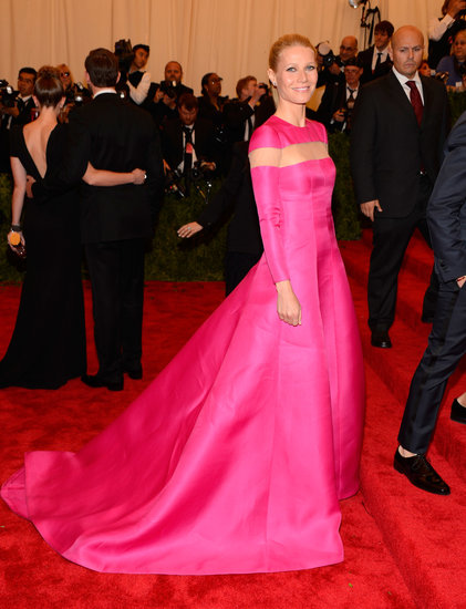 Gwyneth Paltrow Adds a Shock of Pink to the Met Gala Red Carpet