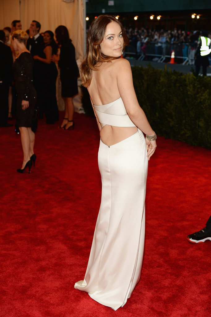 Olivia Wilde at the Met Gala 2013.