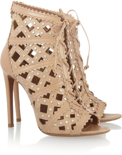 Alaïa Studded cutout leather sandals