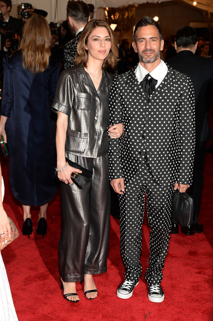 Sofia Coppola sported silky Marc Jacobs pajamas, while Marc Jacobs rocked a polka-dot suit with Converse sneakers.