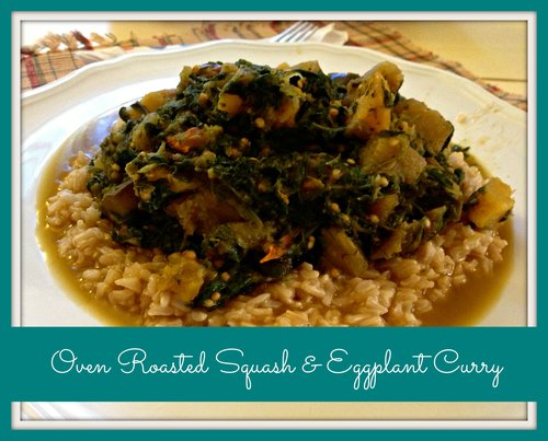 Oven Roasted Squash & Eggplant Curry