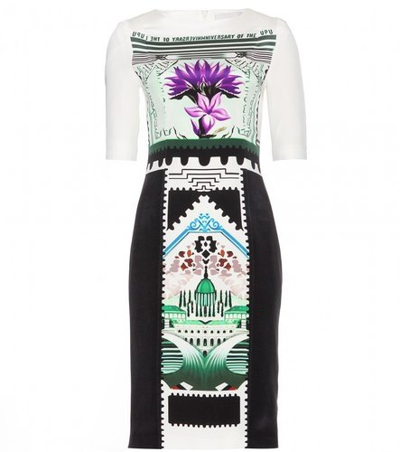 Mary Katrantzou VIOLA BOTANIST SILK PRINT DRESS