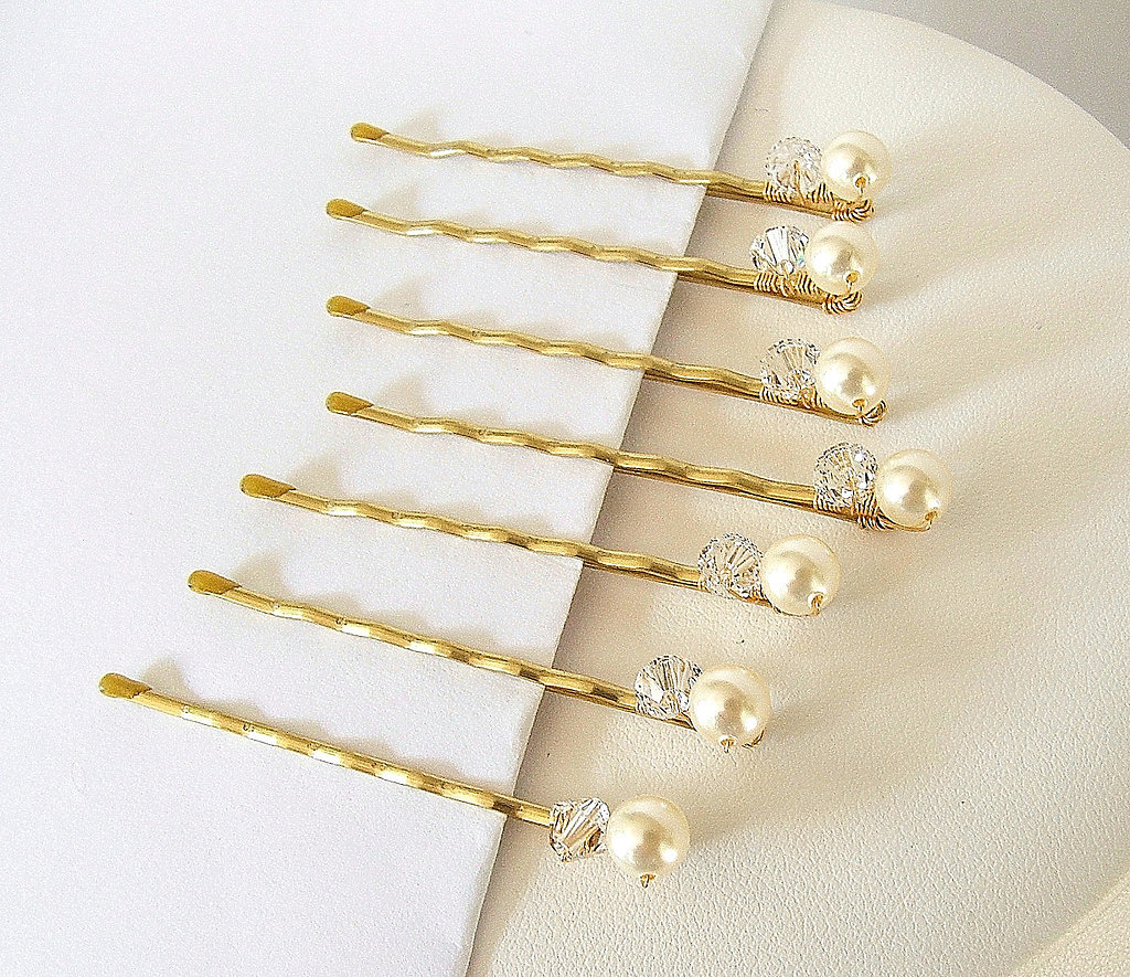 These pearl and crystal bobby pins ($17) are so versatile, and can work in practically any style.
