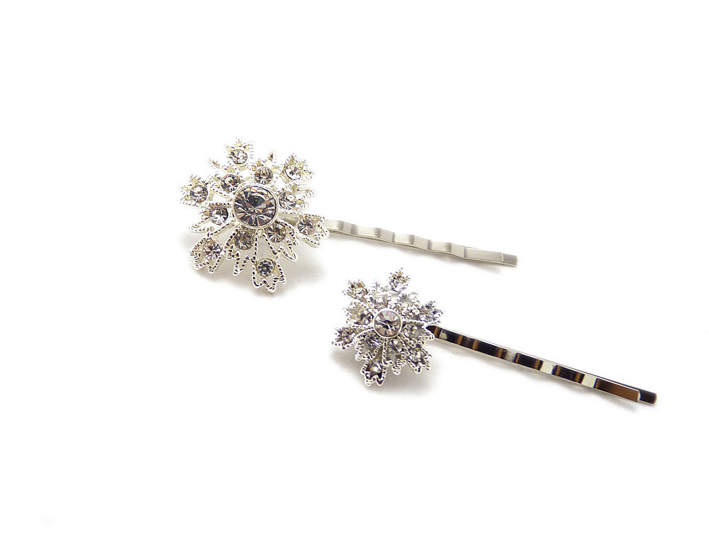 Embrace a Winter wedding with a snowflake bobby pin set ($28).