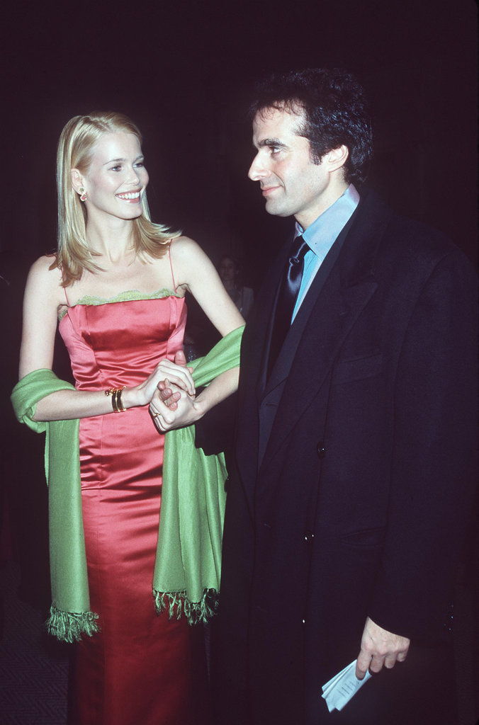Claudia Schiffer and David Cooperfield in 1998