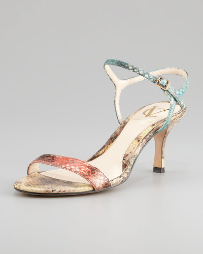 VC Signature Alcine Kitten-Heel Snake Sandal