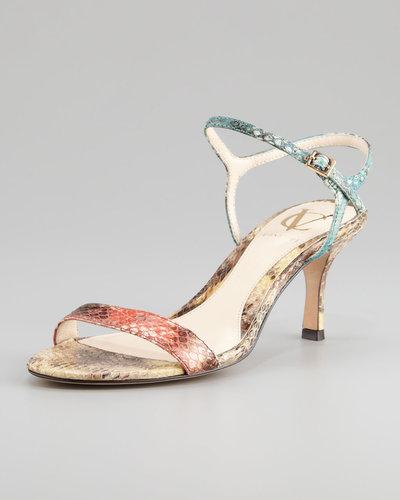VC Signature Alcine Kitten-Heel Snake Sandal
