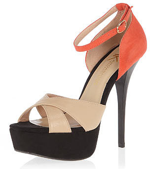 Kardashian Kollection nude ankle strap sandals