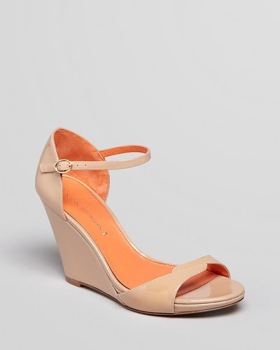 Via Spiga Open Toe Ankle Strap Wedges - Danice