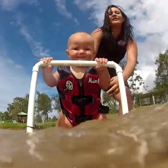 7-Month-Old Baby Can Water Ski | Video