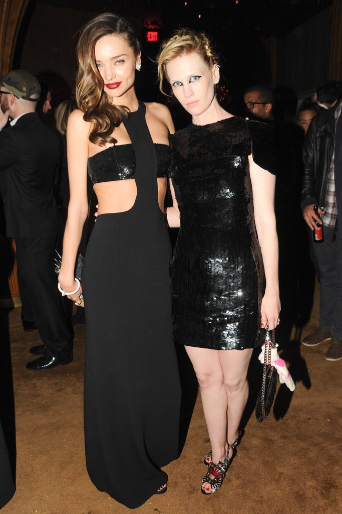 Miranda Kerr partied with January Jones. Source: Neil Rasmus/BFAnyc.com