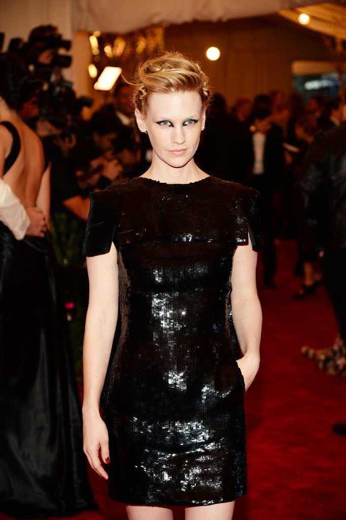 January Jones at the Met Gala 2013.