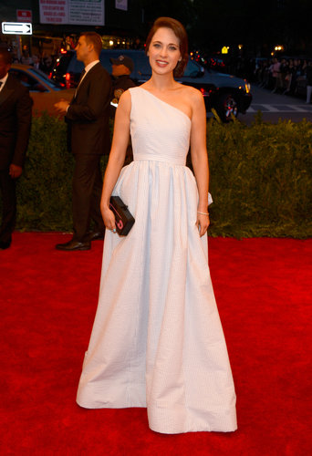 Zooey Deschanel at the Met Gala 2013.