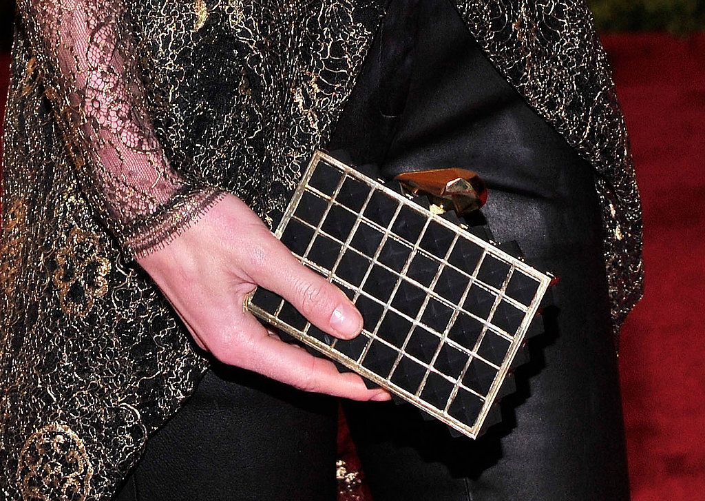 Hilary Rhoda carried a Kotur box clutch.