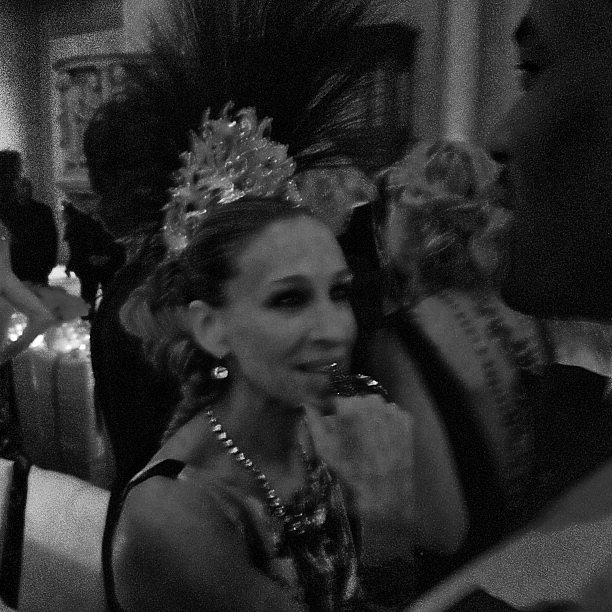 Sarah Jessica Parker chatted with a partygoer inside the Met Gala. Source: Instagram user bravoandy