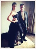 Jessica Biel gave a sneak peek of her gown before arriving at the Met Gala. Source: WhoSay user JessicaBiel
