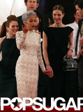 Nicole Richie held onto a friend while leaving the Met Gala.