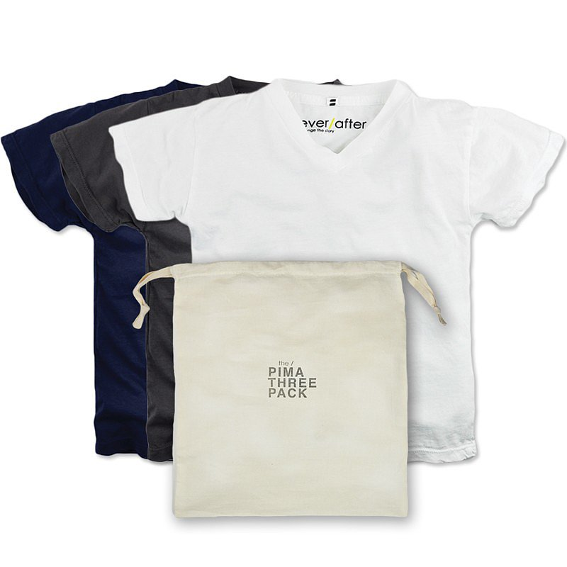 The Pima V-Neck Three Pack ($76)