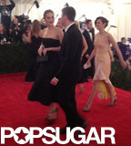 Jennifer Lawrence entered with her posse repping Dior, including Marion Cotillard.
