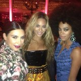 Kim Kardashian snapped a Met Gala candid with Beyoncé and Solange Knowles. Source: Instagram user kimkardashian