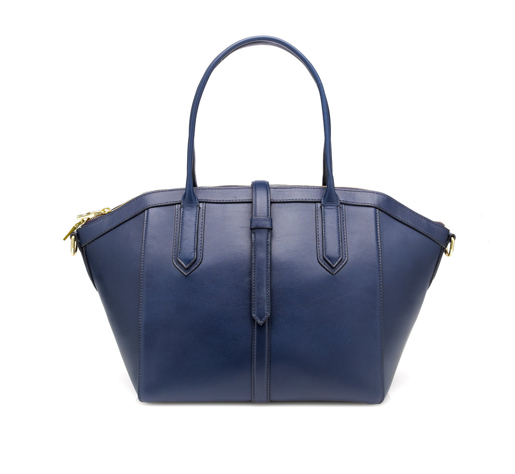 A no-nonsense satchel still allows for some color experimenting. J. Crew's structured silhouette ($325) is ready for the biggest boardroom, but still has some personality in an inky midnight.